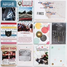 2014 Project Life | May p.4 - Scrapbook.com - Love the map in this project life spread.