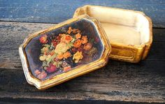 Borghese Cigarette Box Cast Plaster Dresser by vintageeclecticity, $89.00