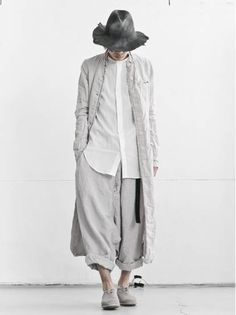 MEN DESIGNER :: PAL OFFNER :: 16SS :: PAL OFFNER Linen Coat / GREY