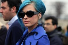 I never thought I would like blue hair   (memories of old ladies with blue hair)  but this looks amazing