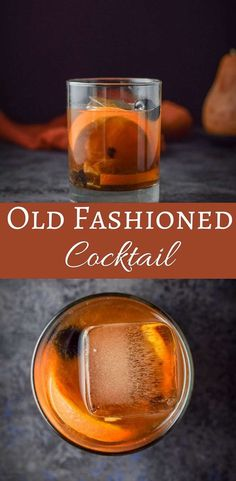Classic Old Fashioned Cocktail Recipe, Whiskey Old Fashioned, Old Fashioned Drink, Old Fashioned Recipes, Popular Cocktails, Easy Cocktails, Cocktail Drinks, Alcoholic Drinks, Beverages