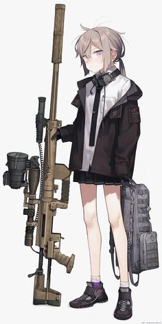 Posting anime guns till I die (day : Apandah Manga Girl, Manga Anime, Cool Anime Girl, Kawaii Anime Girl, Anime Art Girl, Anime Military, Military Girl, Girls Characters, Anime Characters