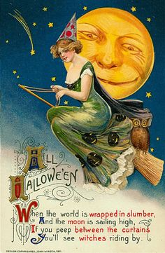 All Halloween -  When the world is wrapped in slumber, and the moon is sailing high If you peep between the curtains you'll see witches riding by ......