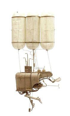 澳洲藝術家Daniel Agdag將工業風帶進紙藝創作,每個機具的零件與細節都精巧又複雜,難以想像這其實是紙雕作品。  fubiz:http://goo.gl/69ZRsn
