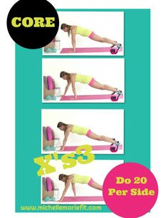 """Great #ABS #EXERCISE for #WOMEN working """"the pooch""""! Do 10-20 per side and add 2 more #CORE exercises from here: http://youtu.be/InJixu83pmQ"""