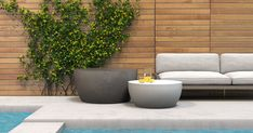 Modern and stylish, durable and lightweight, Blinde concrete tables make a statement in any outdoor or indoor space. Outdoor Settings, Table, Indoor, Furniture Offers, Store Design, Coffee Table, Concrete Table, Design Inspiration, Concrete Furniture
