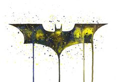 Jasmin Ekström      Watercolor Batman Logo