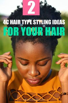 Easy to style 4c natural hairstyling ideas to try during this winter. #4chair #holidaystyling #partyhairstyles #hairbun Natural Hair Types, Long Natural Hair, Natural Hair Updo, Type 4c Hairstyles, Party Hairstyles, Black Women Hairstyles, Flat Twist Out, Protective Hairstyles For Natural Hair, High Hair