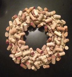 Your place to buy and sell all things handmade Wine Cork Wreath, Flowers Wine, Cork Wall, Burlap Wreath, Decorating Ideas, Craft Ideas, Wreaths, Crafts, Handmade