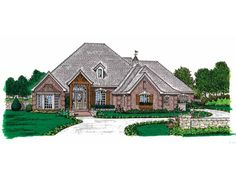 Eplans House Plan: With its high ceilings and enchanting layout, this one-story home radiates convenience, comfort, and charm. At the center of this plan is a magnificent kitchen that will be the envy of all family cooks. Wit