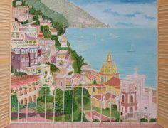 Positano Balcony View Positano, Balcony, Taj Mahal, Art Prints, Building, Handmade, Painting, Travel, Etsy