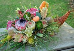 cornucopia, also called a horn of plenty, was traditionally made of ...