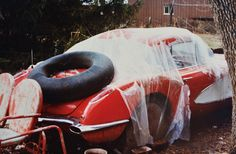From 1975 to 1977, weather took a toll on the '60 Corvette, seen here parked outside in West Frankfo... - Provided by Hotrod