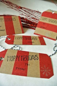 How To: DIY Holiday Gift Tags- Stamps