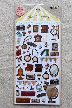 Antique Items Sticker Sheet   Planner Sticker Sheet - Washi Tape Material Sticker Sheet - journaling, Letter Writing, Scrapbook - 2382