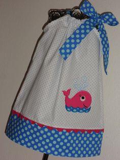 Adorable Whale  Summer  Pillowcase Dress