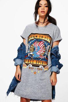 Keira Band Knitted Tshirt Dress