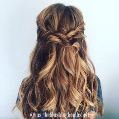 #weddinghair #hairstyles #halfup #boho #long #hair #braids