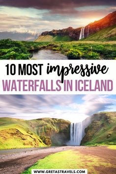 10 Most Impressive Waterfalls in Iceland. Iceland's waterfalls are jaw dropping beautiful. This is the ultimate guide to chasing waterfalls in Iceland. The best places to visit for incredible waterfalls in winter and summer! Iceland Travel Tips, Iceland Road Trip, Europe Travel Guide, Travel Guides, Places To Travel, Travel Destinations, Places To Go, Holiday Destinations, Iceland Waterfalls
