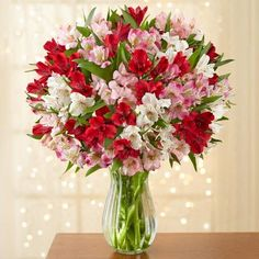 Flowers Online, Exotic Flowers, Flower Delivery, Floral Arrangements, Party Favors, Red And White, Glass Vase, Pink, Home Decor