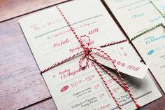 Rustic Wedding Invite Personalised  c/w by PaperholicWorkshop