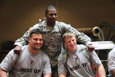 Several Falcons traveled to Dobbins Air Force Base to spend time with the Georgia National Guard #Riseup