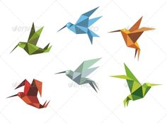 Colorful Flying Hummingbirds #GraphicRiver Colorful flying hummingbirds in origami style isolated on white background. Editable EPS8 (you can use any vector program) and JPEG (can edit in any graphic editor) files are included SPORTS MASCOTS MEDICINE FOOD LABELS WEDDING DESIGN ELEMENTS FLORAL OBJECTS WEB ICONS ANIMALS Created: 26March13 GraphicsFilesIncluded: JPGImage #VectorEPS Layered: Yes MinimumAdobeCSVersion: CS Tags: abstract #animal #background #beak #beautiful #bird #design #feather…