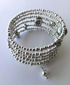 Silver beaded