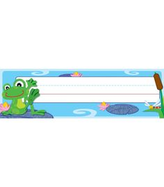 FUNky Frogs Nameplates | Classroom décor from Carson-Dellosa
