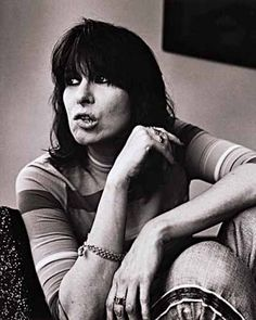 Chrissie Hynde, singer song writer and animal rights activist.
