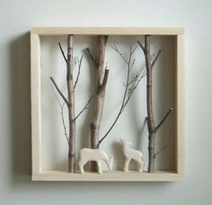 With a shadow-box from IKEA you can create lovely things. With a shadow-box from IKEA you can create lovely things. Diy And Crafts, Arts And Crafts, Kids Crafts, Cadre Diy, Diy Shadow Box, Shadow Box Frames, Deco Nature, Home And Deco, Christmas Crafts