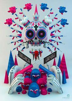 """Ilustración de """"Chilanga Banda"""" de Cafe Tacuba, exposición: Seguiremos siendo."""