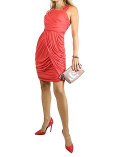 FENDI Red Dress. 36 $350  http://www.boutiqueon57.com/products/yves-saint-laurent-ysl-red-dress-36
