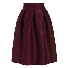Paisley Jacquard Zipper Skirt (44 BAM) via Polyvore featuring skirts