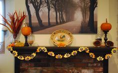 Casa de Berry: Thanksgiving Craft: Turkey Garland