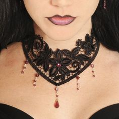 Victorian Steampunk lace choker with by DarkEleganceDesigns, $32.00