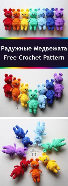PDF Радужные медвежата. FREE amigurumi crochet pattern. Бесплатный мастер-класс, схема и описание для вязания игрушки амигуруми крючком. Вяжем игрушки своими руками! Медведь, мишка, медвежонок, bear. #амигуруми #amigurumi #amigurumidoll #amigurumipattern #freepattern #freecrochetpatterns #crochetpattern #crochetdoll #crochettutorial #patternsforcrochet #вязание #вязаниекрючком #handmadedoll #рукоделие #ручнаяработа #pattern #tutorial #häkeln #amigurumis