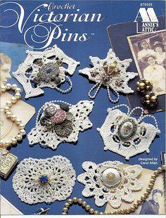 Crochet Victorian Pins 5 Crocht Patterns Annie's Attic 879505 by grammysyarngarden on Etsy