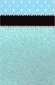 diamonds on sky blue & teal glitter - uploaded by Lynn White