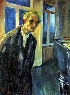 EXPRESIONISMO El jinete azul. Munch, Edvard (1863-1944) - 1923-24 Self-Portrait. Autoretrato, colores diversos, representación de situación cotidiana