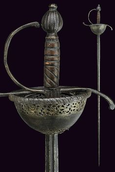 A cup-hilted sword, Europe, ca. 17th century.