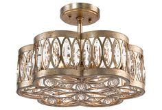 Diamante 6-Light Semi-Flush, Silver