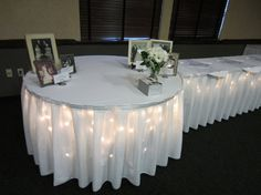 Pre-prom dinner party: lights under table