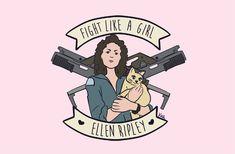 """Retratando a heroínas del cine y las series, Carolina Porfirio demuestra que eso de """"¡Peleas como una chica!"""" no es un insulto, sino un elogio."""