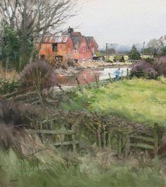 British Artist John LINES - Canalside Jogger