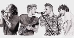(@brits) via Instagram: One Direction by Gina (@gina_f_)  Send your fan art of your fave #BRITs nominees