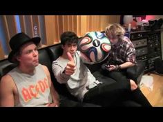 5 Seconds Of Summer featuring Scott Mills -- Hearts Upon Our Sleeve - YouTube