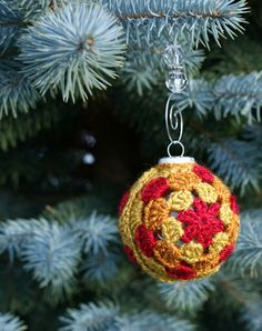 Crochet Ornament Cover | AllFreeCrochet.com