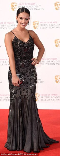 The red (hot) carpet: Tess Daly, Amanda Holden and Lucy Mecklenburgh sizzle in stunning gowns at sun-kissed BAFTA TV awards Georgia May Foote Instagram, Laura Whitmore, Amanda Holden, Tv Awards, Black Jumpsuit, Beautiful Dresses, Celebrity Style, Celebs, Glamour