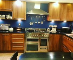 Dulux endurance in Sapphire Salute Dulux Blue, Cherry Cabinets, Sapphire, Kitchen Cabinets, Kitchen Ideas, Kitchens, House, Home Decor, Cuisine